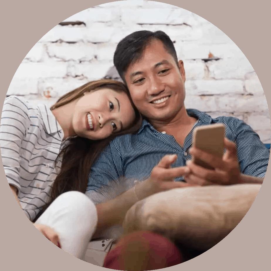 Couple on phone